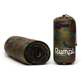Rumpl Original Puffy Printed Deken 1 persoon, olijf/bruin